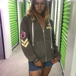 NWT Wildfox reagan RAD hoodie sweatshirt